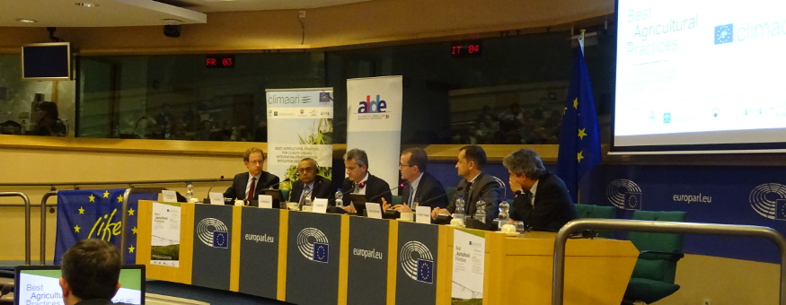SUCCESFUL WORKSHOP OF LIFE+ CLIMAGRI AT THE EUROPEAN PARLIAMENT